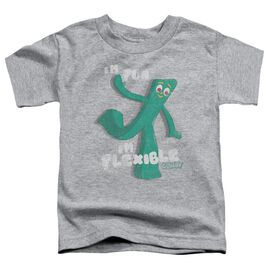 Gumby Flex Short Sleeve Toddler Tee Athletic Heather T-Shirt
