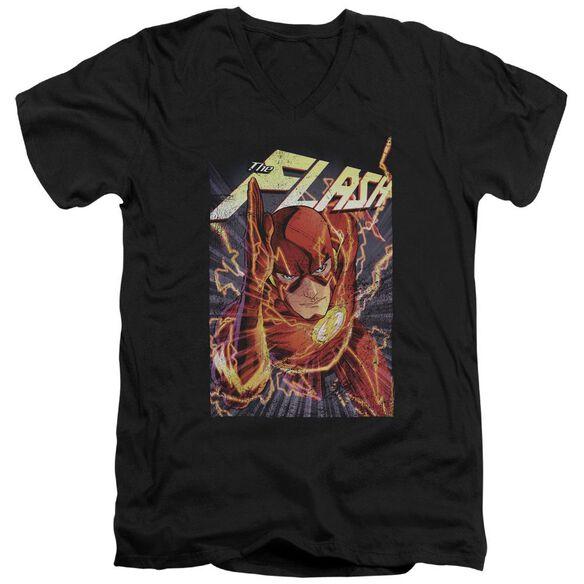 Jla Flash One Short Sleeve Adult V Neck T-Shirt