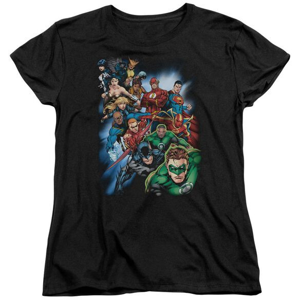 Jla Heroes Unite Short Sleeve Womens Tee T-Shirt