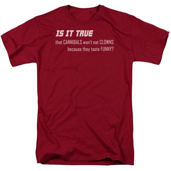 Clowns Taste Funny Short Sleeve Adult Cardinal T-Shirt