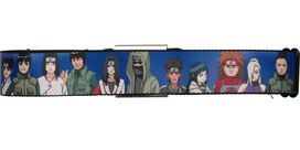 Naruto Character Group Blue Seatbelt Mesh Belt