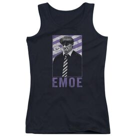 Three Stooges Emoe - Juniors Tank Top - Black