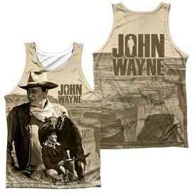 John Wayne Stoic Cowboy (Front Back Print) Adult 100% Poly Tank Top