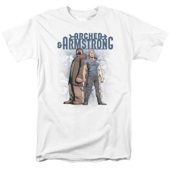 Archer & Armstrong Two Against All Short Sleeve Adult T-Shirt