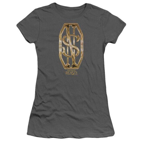 Fantastic Beasts Scamander Monogram Short Sleeve Junior Sheer T-Shirt