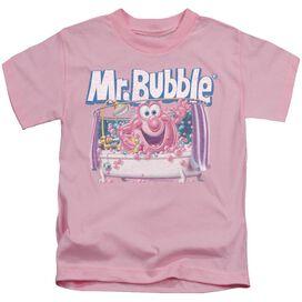 Mr Bubble Shower Time Short Sleeve Juvenile Pink T-Shirt