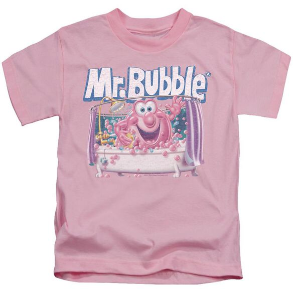 Mr Bubble Shower Time Short Sleeve Juvenile Pink T-Shirt