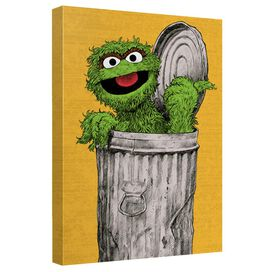 Sesame Street Oscar Painting Quickpro Artwrap Back Board