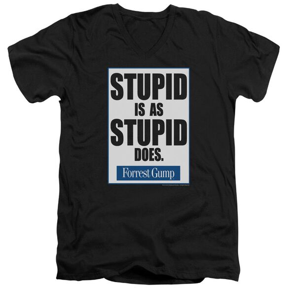 Forrest Gump Stupid Is Short Sleeve Adult V Neck T-Shirt