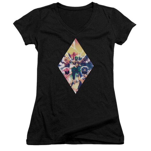 Power Rangers Sdcc Ranger Diamond 1 Junior V Neck T-Shirt