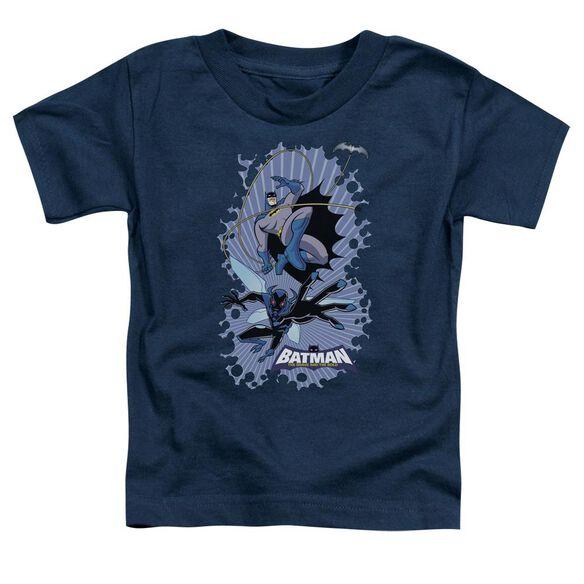 Batman Bb Bat Beetle Burst Short Sleeve Toddler Tee Navy Md T-Shirt