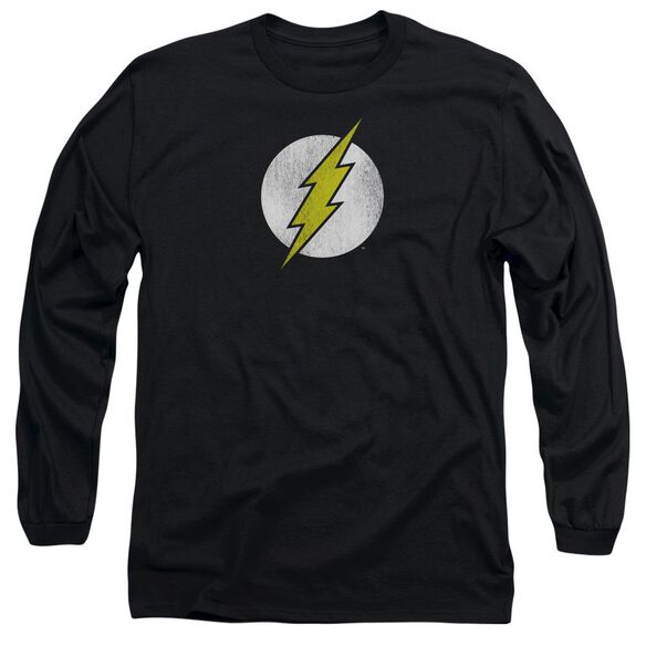 DC FLASH FLASH LOGO DISTRESSED - L/S ADULT 18/1 - BLACK T-Shirt