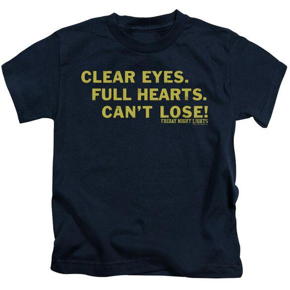 Friday Night Lights Clear Eyes Short Sleeve Juvenile Navy T-Shirt
