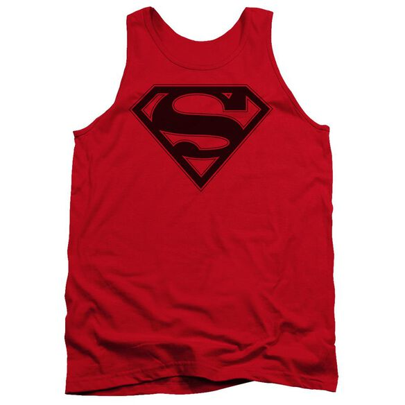 Superman & Black Shield Adult Tank