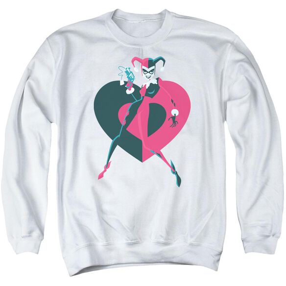 Batman Harely Heart Adult Crewneck Sweatshirt
