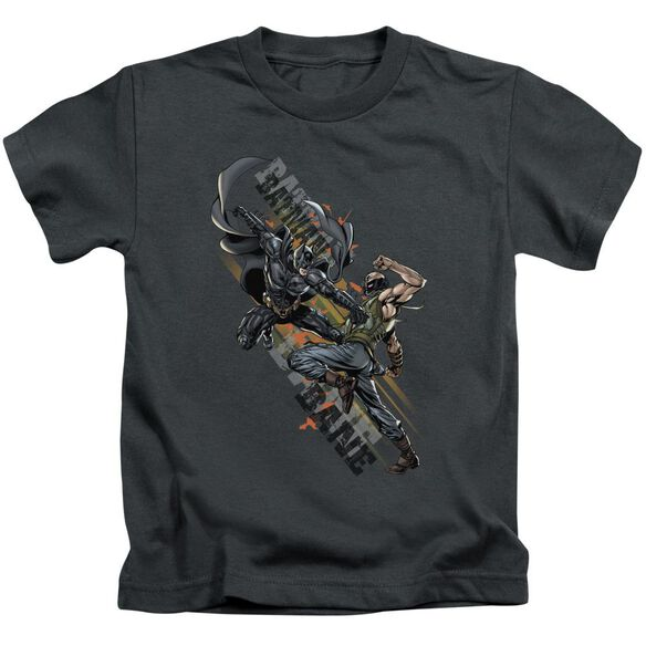 Dark Knight Rises Attack Short Sleeve Juvenile Charcoal T-Shirt