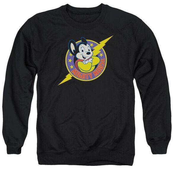 Mighty Mouse Mighty Hero Adult Crewneck Sweatshirt