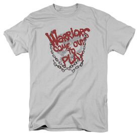 WARRIORS COME OUT AND PLAY - S/S ADULT 18/1 - SILVER T-Shirt