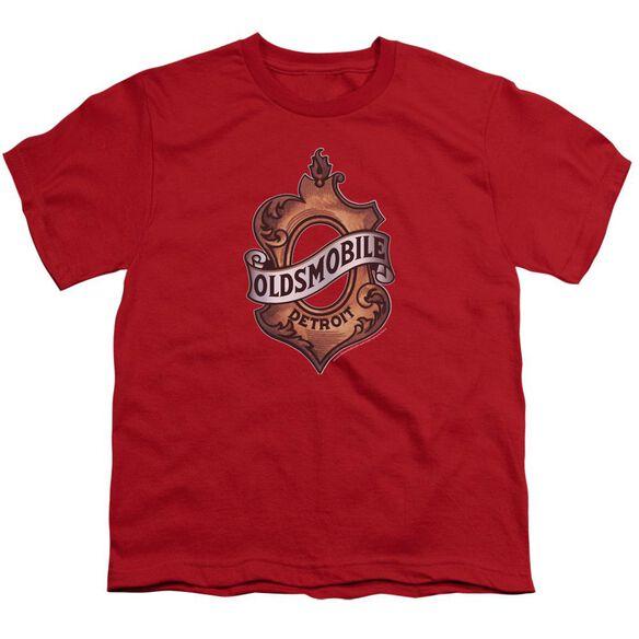 Oldsmobile Detroit Emblem Short Sleeve Youth T-Shirt