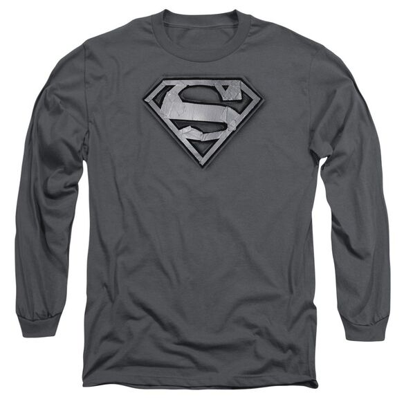 Superman Duct Tape Shield Long Sleeve Adult T-Shirt