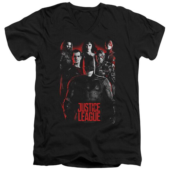 Justice League Movie The League Short Sleeve Adult V Neck T-Shirt