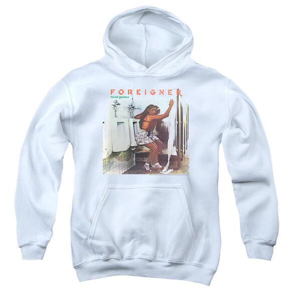 Foreigner Head Games Youth Pull Over Hoodie