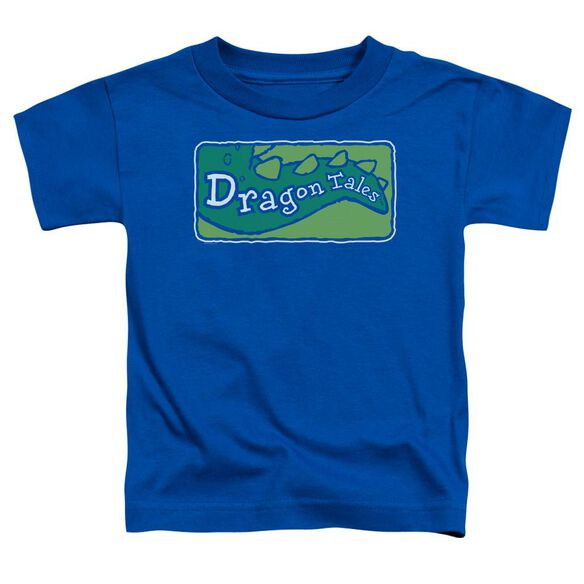 Dragon Tales Logo Clean Short Sleeve Toddler Tee Royal Blue T-Shirt