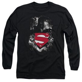 Superman Darkest Hour Long Sleeve Adult T-Shirt