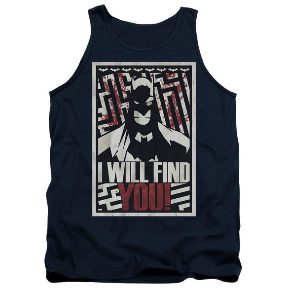 Batman I Will Fnd You Adult Tank
