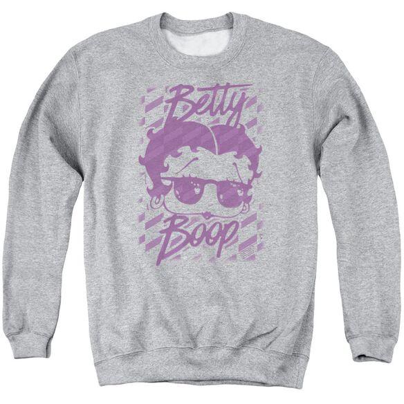 Betty Boop Summer Shades Adult Crewneck Sweatshirt Athletic