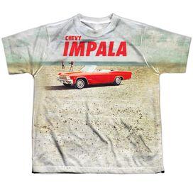 Chevrolet Beach Impala Short Sleeve Youth Poly Crew T-Shirt