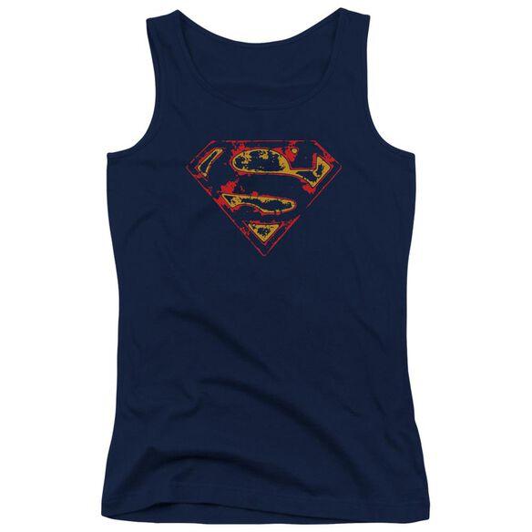 Superman Super Distressed Juniors Tank Top