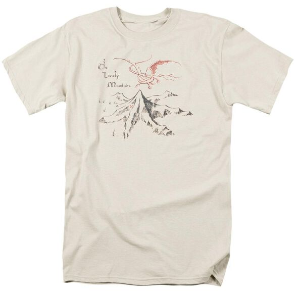 The Hobbit Lonely Mountain Short Sleeve Adult Cream T-Shirt