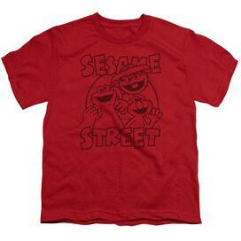 Sesame Street Group Crunch Short Sleeve Youth T-Shirt
