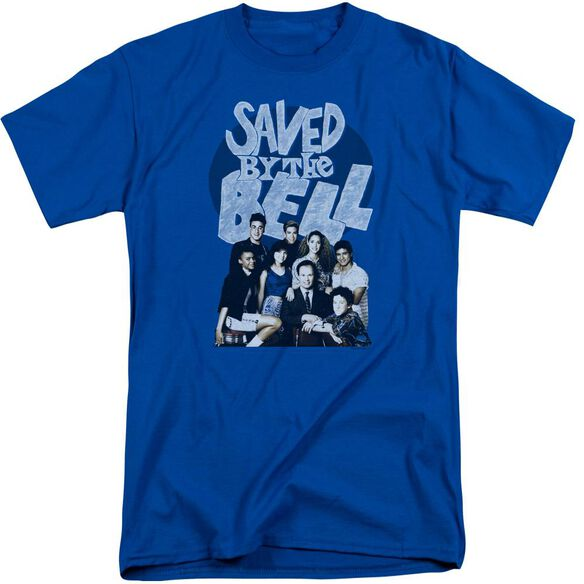 Saved By The Bell Retro Cast Short Sleeve Adult Tall Royal T-Shirt