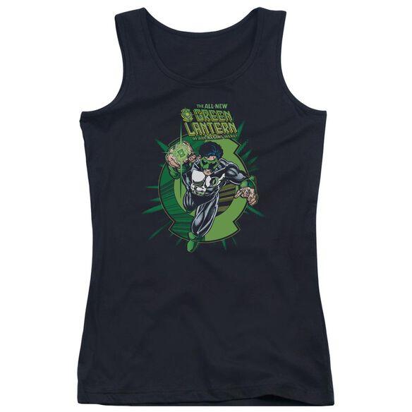 Green Lantern Rayner Cover - Juniors Tank Top - Black