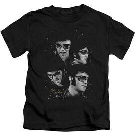 ELVIS PRESLEY FACES - S/S JUVENILE 18/1 - BLACK - T-Shirt