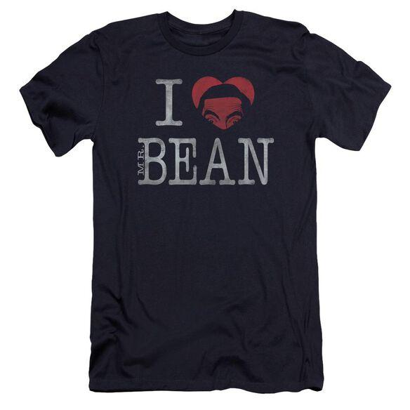 Mr Bean I Heart Mr Bean Premuim Canvas Adult Slim Fit