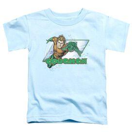 Jla Aquaman Short Sleeve Toddler Tee Light Blue Lg T-Shirt