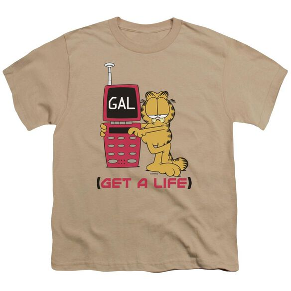 GARFIELD GET A LIFE - S/S YOUTH 18/1 - SAND T-Shirt