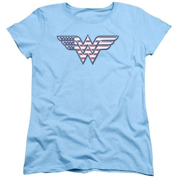 Dc Red,White & Short Sleeve Womens Tee Light T-Shirt