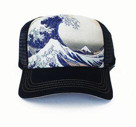 Great Wave Off Kanagawa Navy Blue Hat