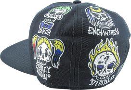 Suicide Squad Character Skulls Snapback Hat