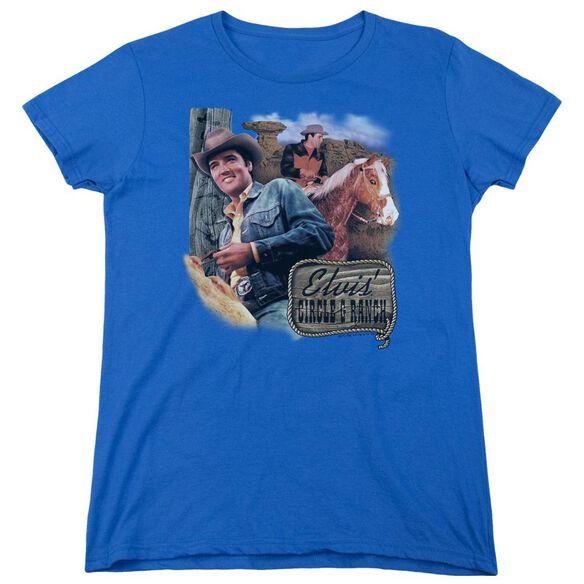 Elvis Presley Ranch Short Sleeve Womens Tee Royal T-Shirt