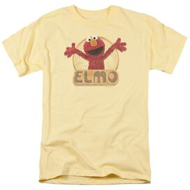 Sesame Street Elmo Iron On Short Sleeve Adult Banana T-Shirt
