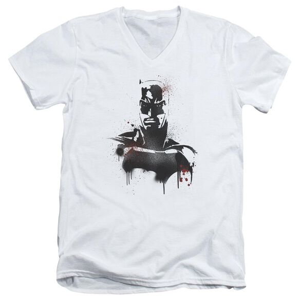 Batman V Superman Batman Spray Short Sleeve Adult V Neck T-Shirt