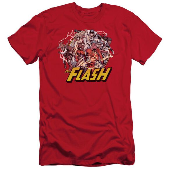 Jla Flash Family Short Sleeve Adult T-Shirt