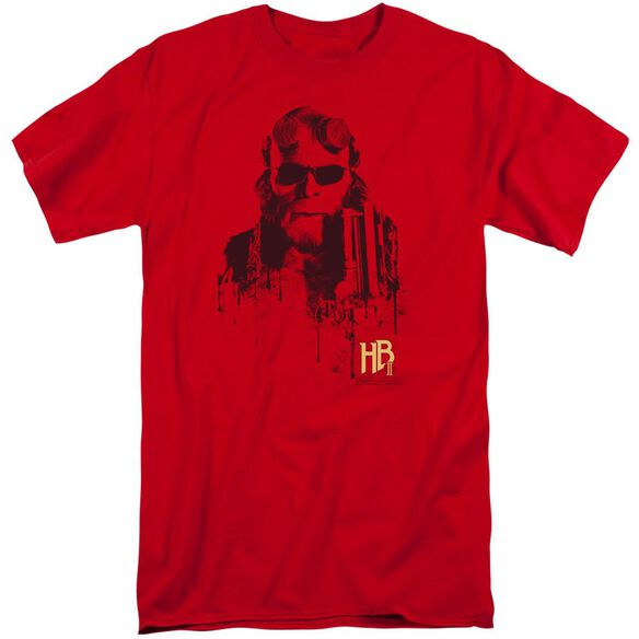 Hellboy Ii Splatter Gun Short Sleeve Adult Tall T-Shirt