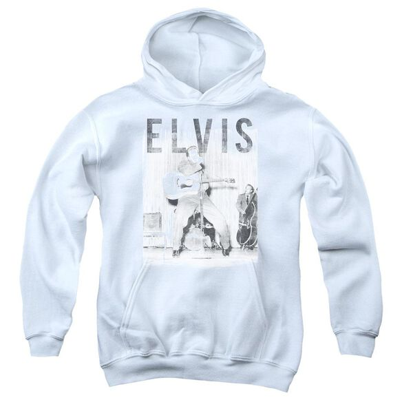 Elvis With The Band Youth Pull Over Hoodie