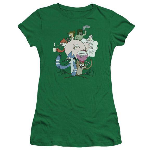 Regular Show Regular Cast Hbo Short Sleeve Junior Sheer Kelly T-Shirt